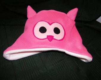 Fleece Children's Owl Hat