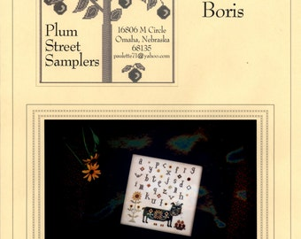 Plum Street Samplers: Boris - Cross Stitch patroon