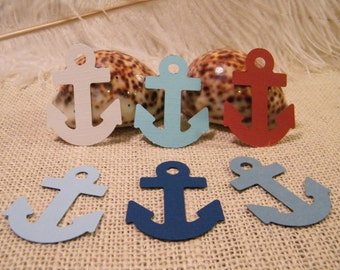 Anchor Gift Tags SMALL // Nautical Theme Party // Die Cut // DIY Wedding Favor Tags //  You Pick the Color // Set of 50