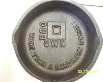 Vintage Our Own Hardware Cast Iron Ashtray