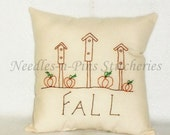 Pattern Stitchery Fall Birdhouses ePattern INSTANT DOWNLOAD PDF Design