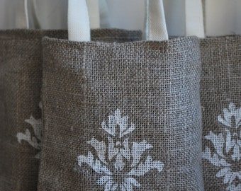SALE. Linen favor /gift/candy bags. Set of 45. Size : 5 inch x  4 1/2 inch