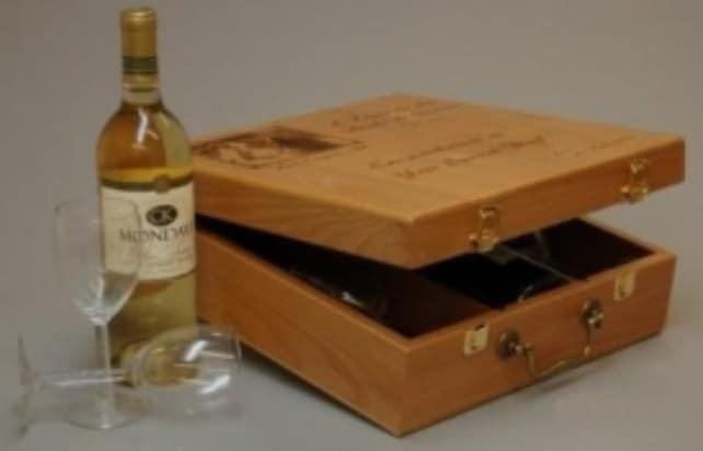 Wedding Gifts Usa: Personalized Wine Box Custom Wood Wine Box Made In USA
