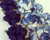 DIY Flowers only - Ombre Navy Cornflower Blues, Place Cards Menus, Place Cards, Stationary, Flower Balls, Wedding Decorations
