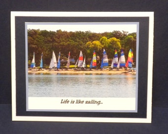 Life is Like Sailing Note Card