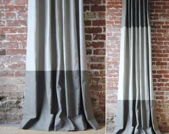 "108""L - Martha Panel - custom curtains - Pick Your Colors - Drapery Panels"