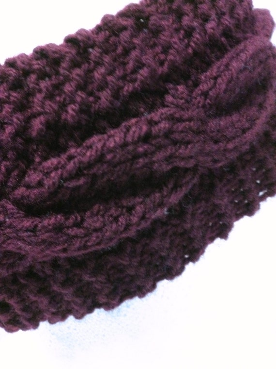 Head Band Knitting Pattern Knit Cabled Ear by ToppyToppyKnits