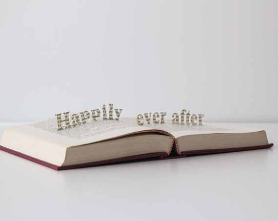 Happily ever after - Vintage Book Pop Up