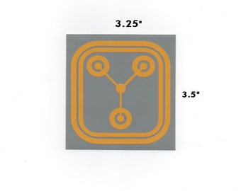 Flux Capacitor sticker - back to the future decal geek gift