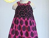 Ruffle Neck Dress Sewing Pattern Pattern, PDF Sewing Pattern, Girls Dress Sewing Pattern, Pillowcase Dress Sewing Pattern