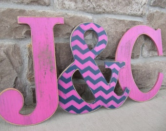 3 Custom letters of your choice/Custom letters for home decor - 9 inch