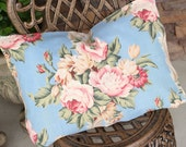 1920s 30s Antique French Floral Pattern Textile Vintage Fabric Custom Decorative Throw Pillow