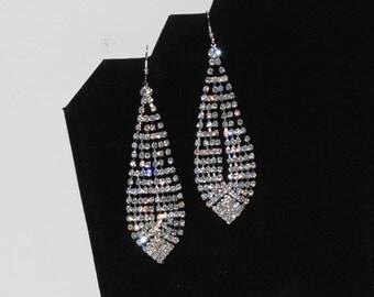 Swarovski Rhinestone Chandelier Earrings