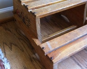 Vintage child's step stool seat reserved