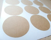 Kraft Circle Labels, 2.5 Inch Circle Stickers, Jar Lid Labels - Set of 24