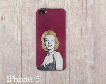 Marilyn Monroe iPhone Case, iphone cover, iPhone 4 case, iPhone 4s case, iPhone 5 case, hard case, Paper Quilling, paper art print