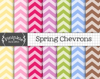 Pastel Chevron Digital Paper Pack, Digital Paper Easter, Instant Download, Commercial Use,Zig Zag Digital Background,Chevron Patterned Paper