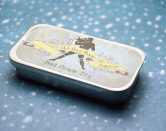 Solid Perfume - Aquarius - Astrological Perfume Crème Tin - Honey, Black Licorice, Sweet Orange, Apples, Lily, Chocolate, Vanilla