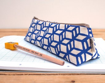 Box Print Pencil Case