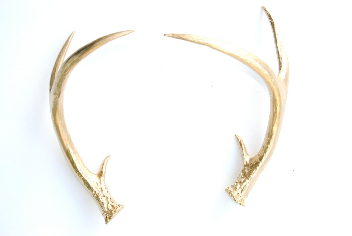 Faux Taxidermy Gold Antler Decor Gold Resin Unique Deer