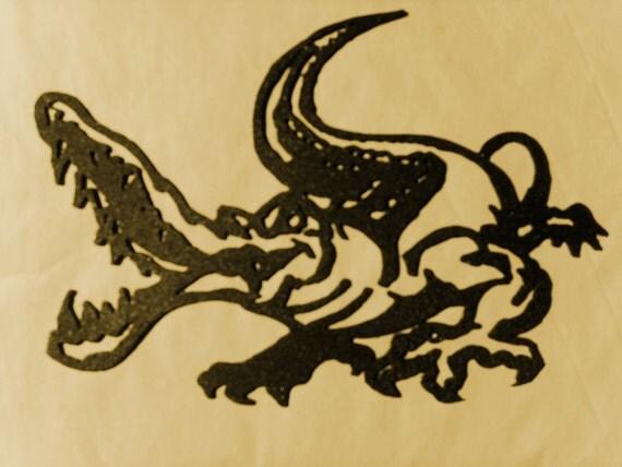 ALLIGATOR,CROCODILE,Florida,Everglades,Swamp,Gators,Croc,Wall Decor,Metal Art
