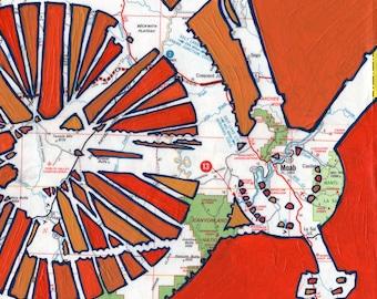 Bike Moab 13x13 bike print - ffeaturing Moab Utah, Arches park, Canyonlands Park, Goblin Valley, mountain bike  print
