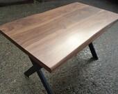 Walnut Dining Table - Solid Black Walnut - X Leg Design