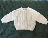 Irish Baby Sweater - 0-3 months