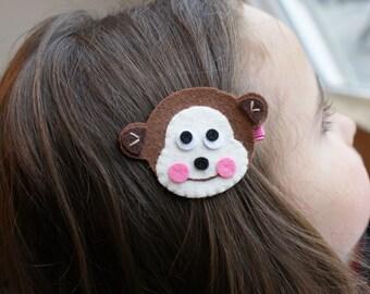 Adorable Monkey Hair Clip - Meet Miss Moira