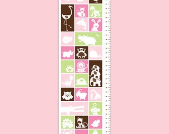 Personalized Animal Growth Chart - Animal Crackers - Girl
