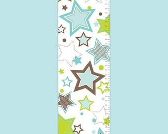 Personalized Growth Chart - Shooting Star Aqua