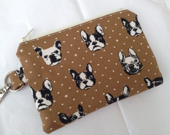 French Bulldog Small Zippered Pouch