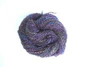 Hand spun Peacock yarn. 318 yards
