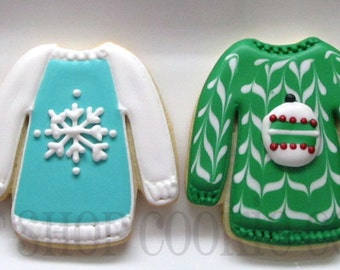 Not So Ugly Christmas Sweater Cookies 2 dozen