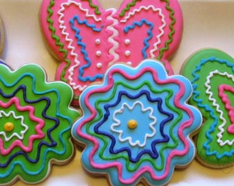 Funky Butterfly and Flower Cookies 2 dozen
