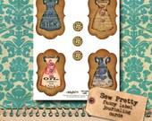 Sew Pretty - Fancy Label Journaling Cards