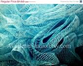 CRAZY SUMMER CLEARANCE Bath Pouf in Aqua - Fine Art Lustre Print