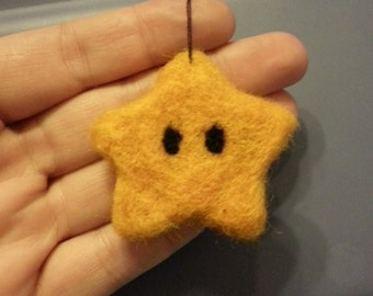 Needle felted Mario Star
