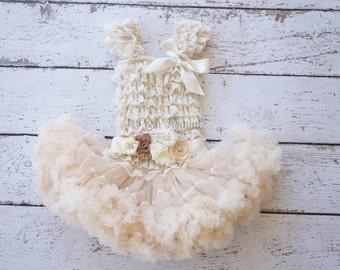 Flower girl dresses- Rustic Flower Girl, lace flower girl dress, tutu flower girl dress, tutu dress, pettiskirt dress, flower girl dresses