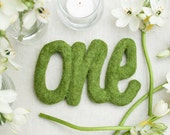 Faux moss table number Wedding