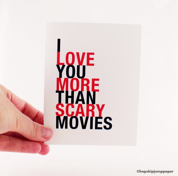funny birthday card scary movies