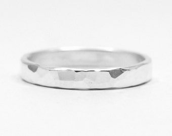 Hammered Sterling Silver Ring Wedding Ring Weddings Jewelry Commitment Ring Wedding Band Personalised Ring