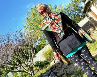 recycled eco pixie, elf coat hoodie