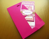 Indian Wedding Invitation, Henna Inspired Wedding Invitation, Pink and Gold Invitation – SAMPLE