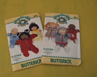 1980s Cabbage Patch Kids Clothing Pattern Uncut Doll Clothes Set of 2 Vintage Sewing