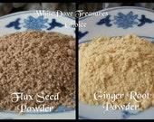Organic Flax Seed Powder 1oz. or Organic Ginger Root Powder Internal/External Culinary Spice Love Money Success Protection Bath & Beauty