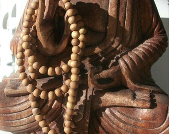 SANDALWOOD BEADS 108 Loose 8mm - 6mm Aromatic ~ Natural Wood