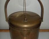 Brass Ice Beverage Champagne Wine Bucket 1960's