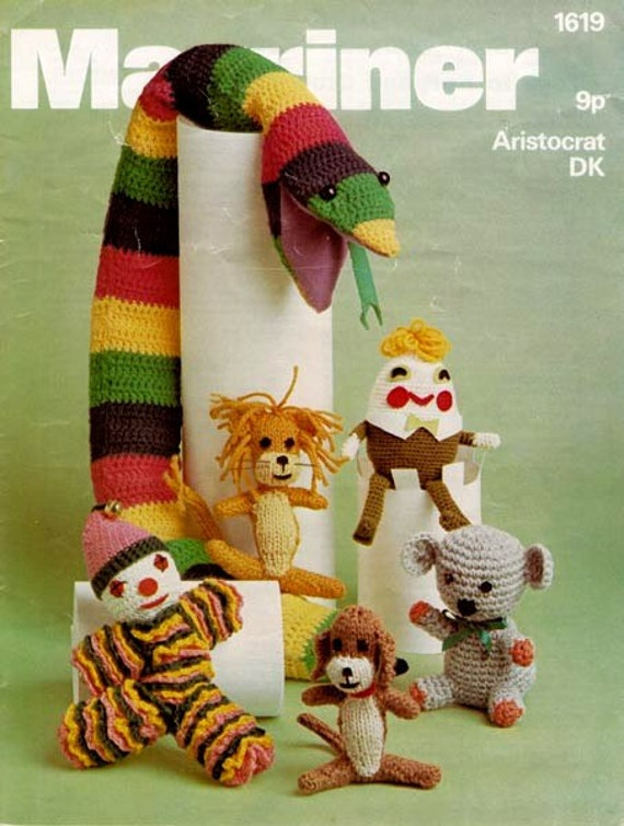 PDF Knitting & Crochet Pattern for Assorted Soft Toys and a