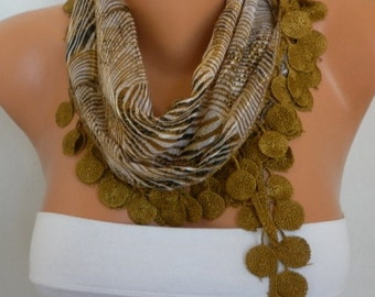 Olive Zebra Print Cotton Scarf, Teacher Gift, Shawl, Cowl Scarf Gift Ideas For Her, Women Fashion Accessories best selling item scarf